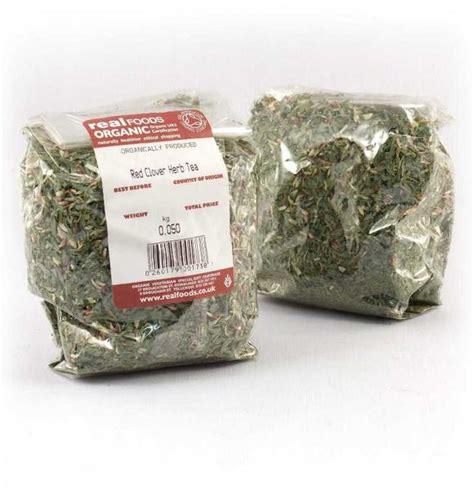White Tea Herbal 25gr organic clover herb tea from real foods buy bulk