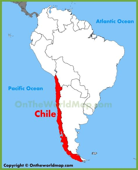 south america map chile chile location on the south america map