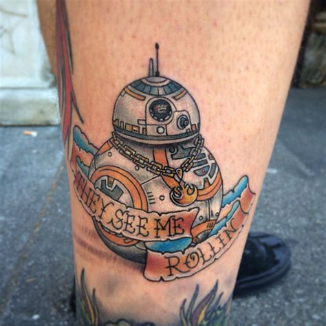 watercolor tattoo vacaville new wars bb 8 droid from episode 7 by matt robinson
