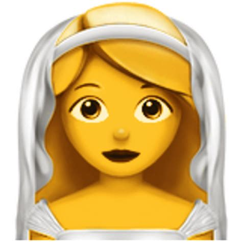 Wedding Emoji by With Veil Emoji U 1f470
