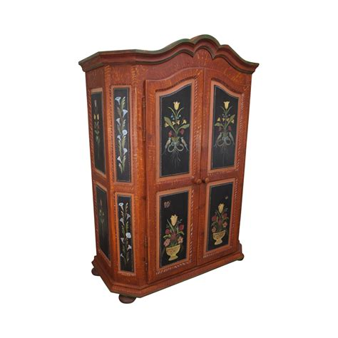 hand painted armoire french style hand painted armoire cabinet chairish
