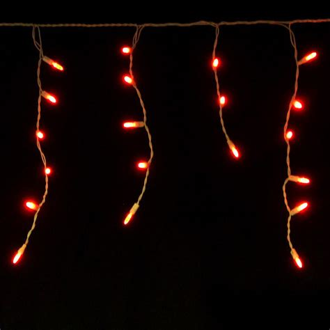 red 88632r m5 white wire 70 led christmas icicle lights