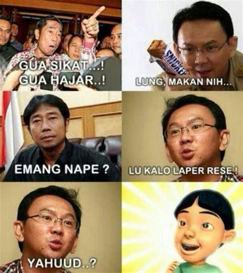 ahok vs haji lulung kumpulan 5 meme lucu ahok lulung oleh selasar com