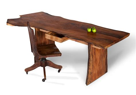 enhance the beauty of bedroom with wood desk designinyou