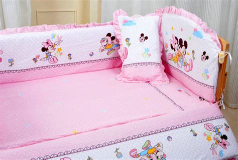 Baby Minnie Mouse Crib Bedding Set 5 Pieces Baby Minnie Mouse Crib Bedding Set Home Furniture Design
