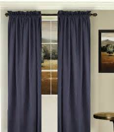 Navy Curtains Solid Navy Blue Colored Window Curtain Available In