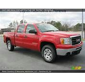 2007 GMC Sierra 1500 SLE Crew Cab 4x4 In Fire Red Click To See Large