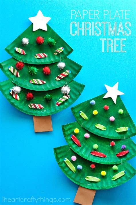 paper plate christmas art paper plate tree craft i crafty things