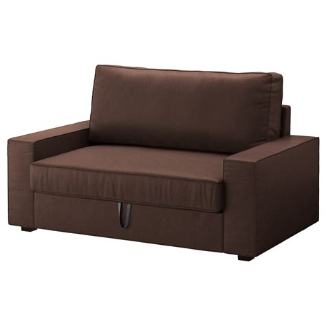 Ikea Two Seater Sofa Bed Vilasund Two Seat Sofa Bed Borred Brown Ikea