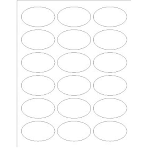 templates oval labels 18 per sheet avery