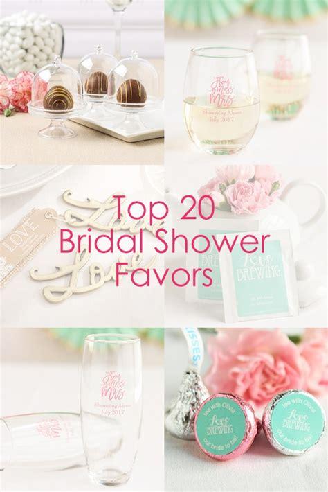 top 20 wedding shower top 20 bridal shower favors beau coup