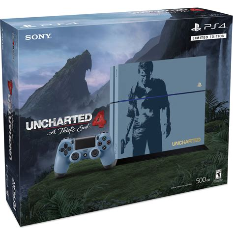 Ps4 Uncharted 4 Limited Tanpa sony playstation 4 500gb console uncharted 4 limited edition bundle 3001068 711719501992