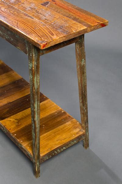 pine console table with shelf landrum tables