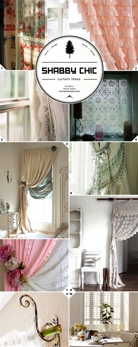 window treatment style shabby chic curtains rods and tie backs home tree atlas