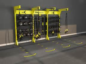 home gym studio design design gym rax trx storage and suspension training