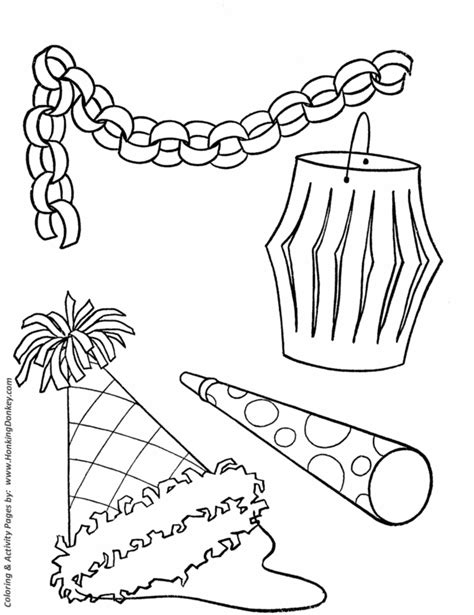 Birthday Decorations Coloring Pages | birthday coloring pages free printable kids birthday