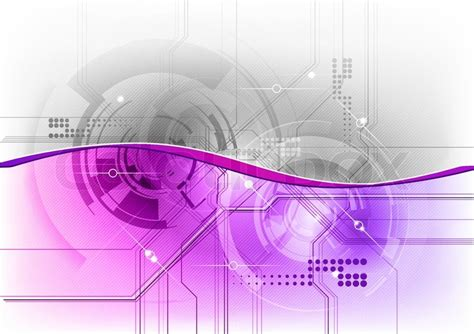 Tech Background In The Purple Color Stock Vector Colourbox Purple Technical Data Info Powerpoint