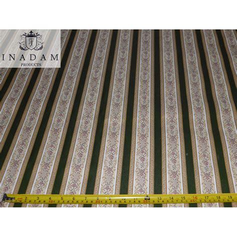 Regency Stripe Upholstery Fabric Inadam Furniture Green Regency Stripe Fabric Supplied
