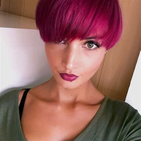 short hairstyles pink color short haircuts with pink color 2016 fashion and women