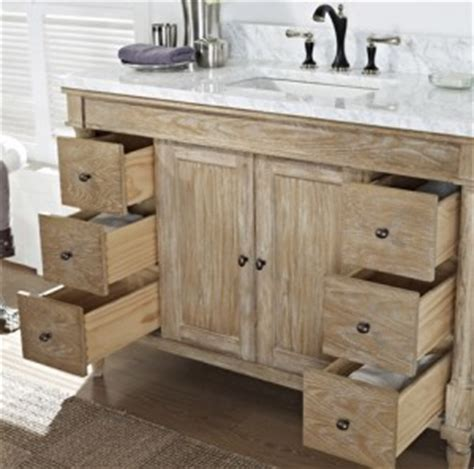 weathered oak bathroom vanity rustic chic 48 quot vanity weathered oak fairmont designs