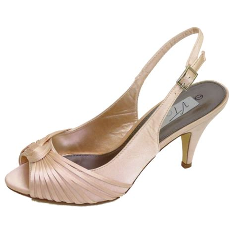 Gold Satin Shoes Wedding by Pale Gold Satin Bridal Bridesmaid Wedding