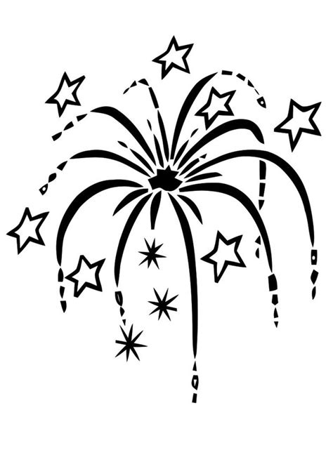 free coloring pages of firework clipart