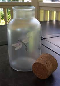 Dragonfly decor bathroom accessories home decor corked glass bottle