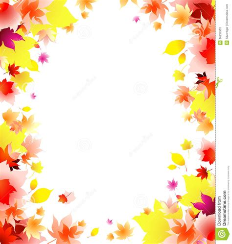 cornici powerpoint autumn leaves frame background stock vector illustration