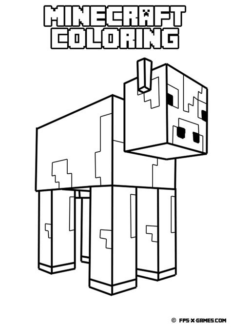 minecraft coloring pages for kids coloring home