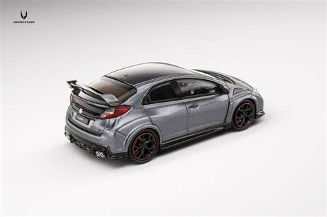 Tarmac Honda Civic Typer Fk Grey 1 64 honda civic type r fk2 2016 tarmac works diecast international forum