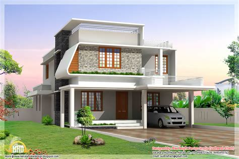 modern design house 3 beautiful modern home elevations kerala home design