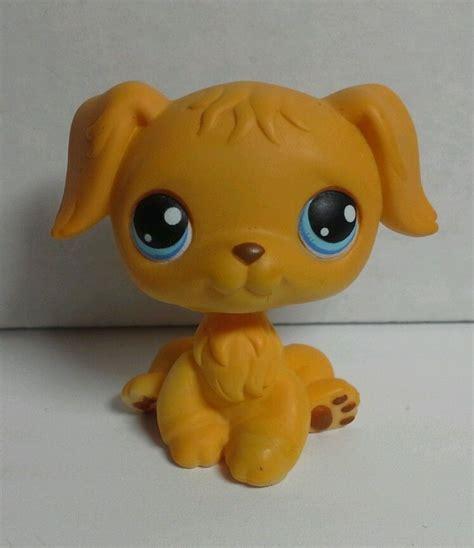 lps golden retriever ebay lps littlest pet shop 21 golden retriever puppy blue ebay