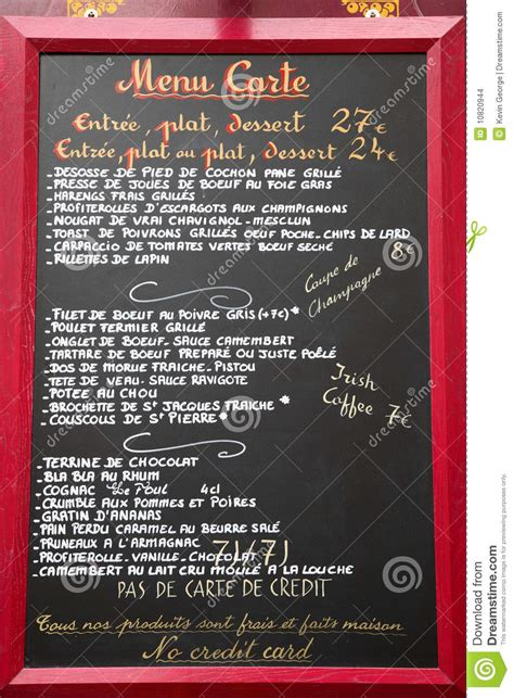 sle menu card language menu stock photo image