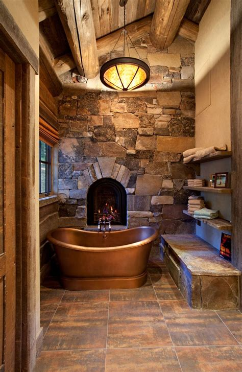 log cabin with bathroom and kitchen best 25 copper tub ideas on pinterest