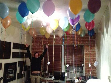 room filled with balloons birthday for my boyfriend 26th birthday i filled his room with 26 balloons each