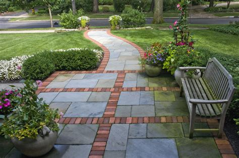 front walkway pattern design entrances winnetka il traditional landscape other by