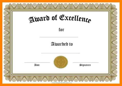 word document certificate templates 7 certificate award templates for word cna resumed