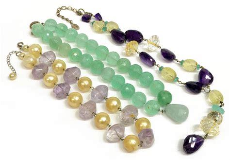 designer gemstone bead necklace the jo