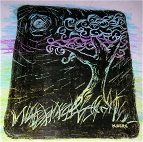Colour Etching crayon etching leap into