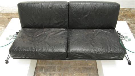 Sofa Germany by Roy Fleetwood Black Leather Quot Wing Sofa Quot Vitra Germany At