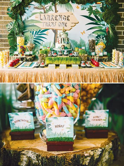1st birthday jungle theme decorations amazing jungle themed birthday hostess with