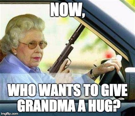 grandma with a silencer imgflip
