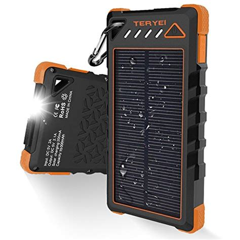 Power Bank Lu Gantung Emergency Solar Cell solar charger 15000mah teryei portable solar power bank high efficiency solar phone charger with