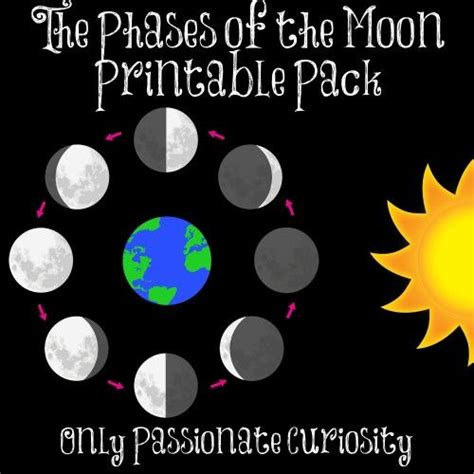 edu science moon phase light free moon phases printables and lesson videos student