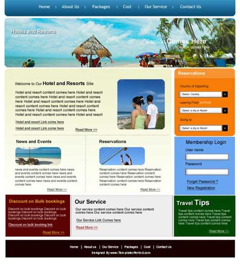 tour template free tour travel agency psd web template templates