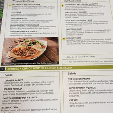 California Kitchen Pizza Menu by California Pizza Kitchen 105 Photos 102 Reviews
