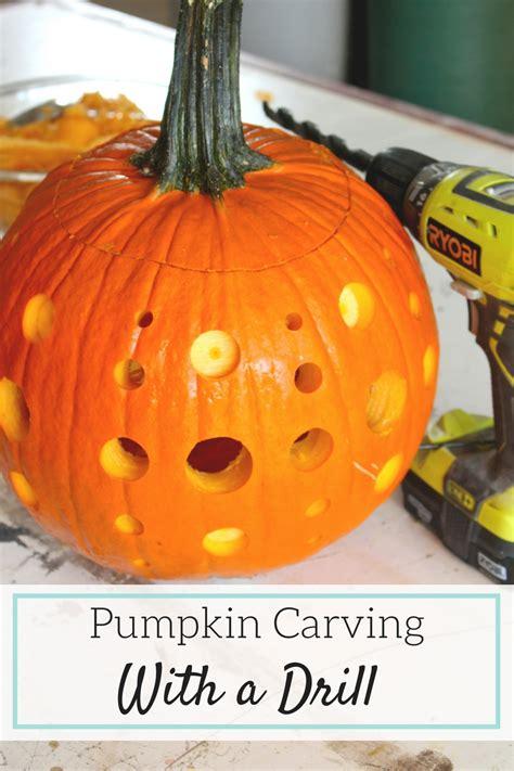 drilled pumpkins pumpkin carving with a drill