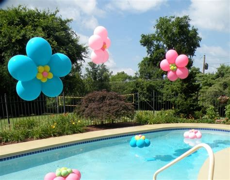 pool theme decorations oh hey pool balloon decorations these floating