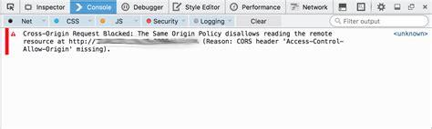 console log chrome javascript cors no access allow origin header