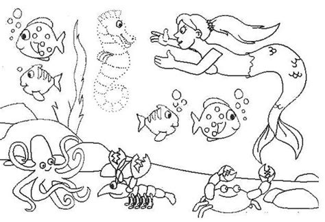 el ecosistema colouring pages laminas marinas para colorear